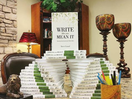 My Book, Write Like You Mean It, Is Here. Get Your Copy Now