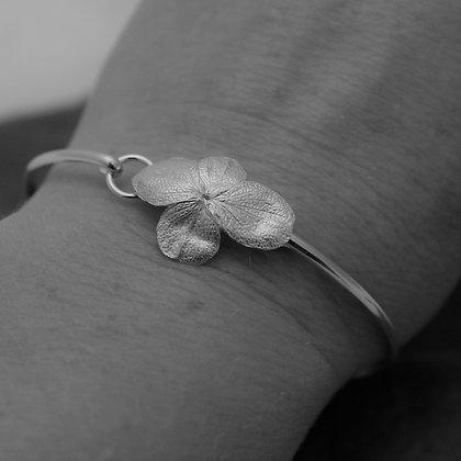 Fine silver Hydrangea flower bracelet