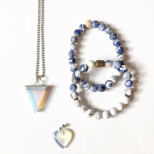 Kit bijoux un bracelet homme, un femme