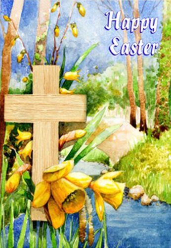 Pack of 6 Christian Easter Cards with Bible Text - Happy Easter /Easter Joy