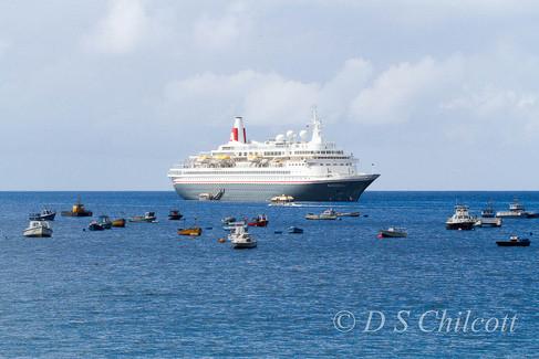 Cruise ship at mooring