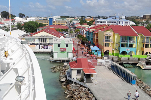 Antigua port area