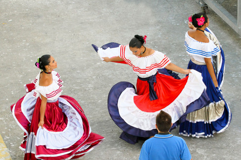 Costa Rican traditional dancers
