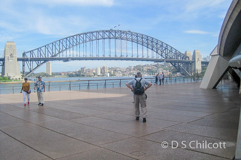 View of Sydney Harbour bride from Sydney Opera House