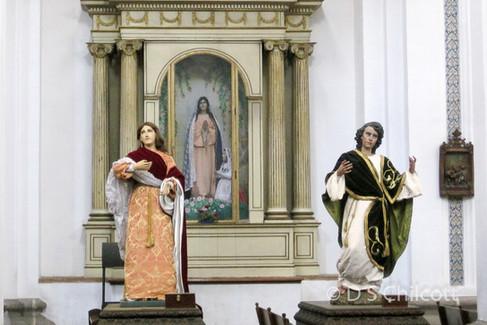 Figurines in church