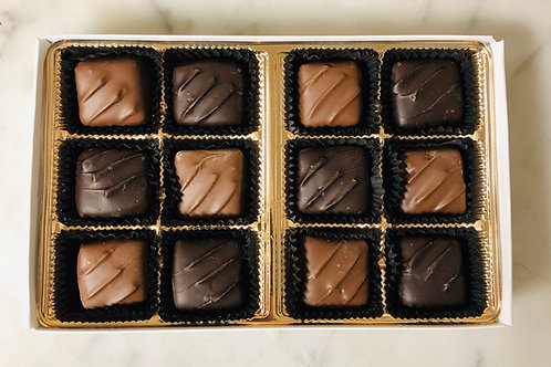 12 Piece Chocolate Covered Caramels