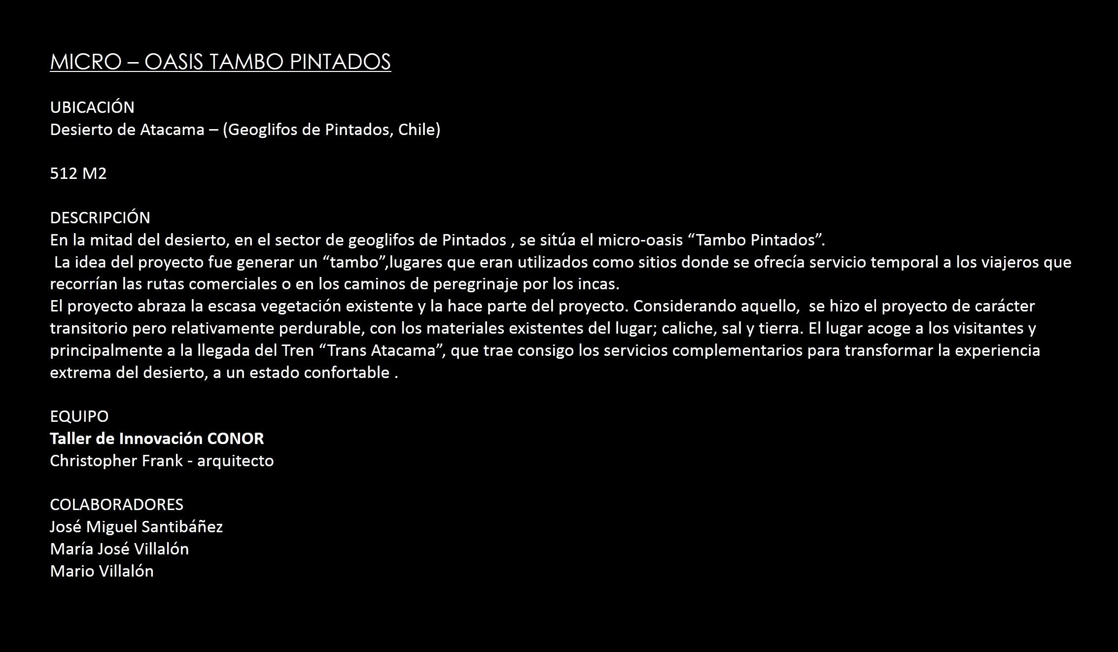 MICRO-OASIS TAMBO PINTADOS
