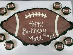 Football pull apart cake