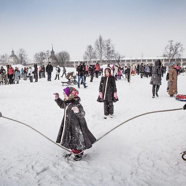 Масленичные гуляния в Кирилло-Белозерском монастыре
