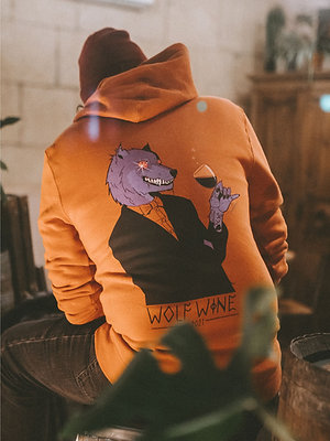 Limited Edition 2021 Wolf Wine Heavy Weight Rust Hoodie