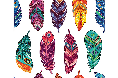 Decoupage Paper Feathers