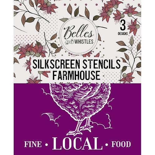 Silkscreen Stencil Farmhouse