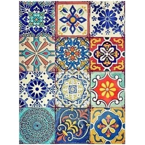 Decoupage Paper Colorful Tiles