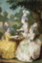 femme de la cour prenant une ptisana