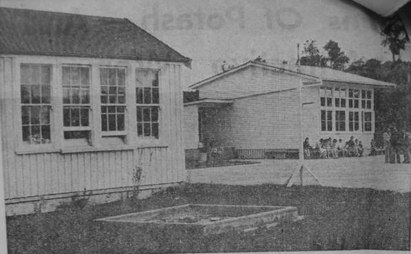 Tutamoe School 1953 - New school buildin