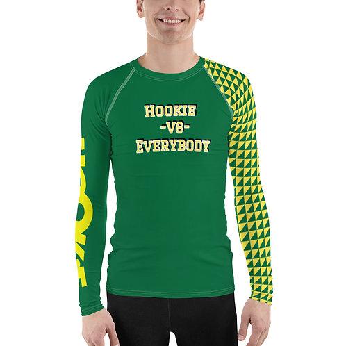 Hookie vs Everybody Rash Guard Green-Yellow