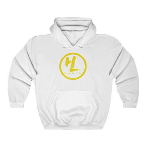 HL by HookieLife Unisex Heavy Blend™ Hooded Sweatshirt (Sunshine Yellow Emblem)