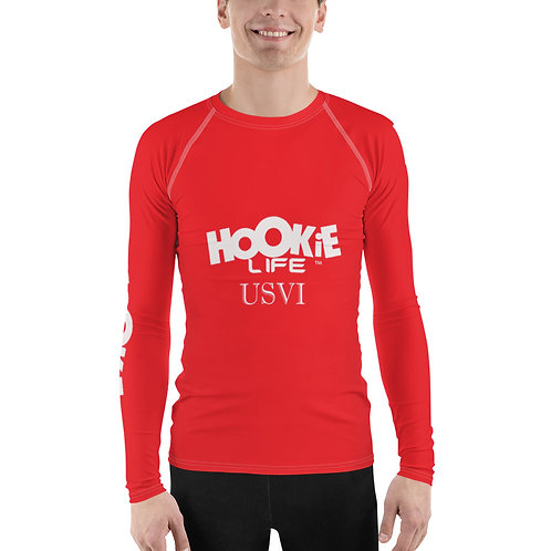 Men's Hookie Gear Rash Guard Red