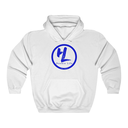 HL by HookieLife Unisex Heavy Blend™ Hooded Sweatshirt (Royal Blue Emblem)