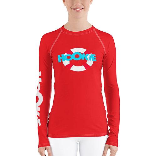 Women's Hookie Gear Rash Guard Red
