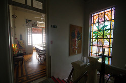vitral e sala de jantar