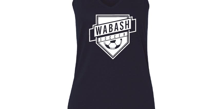 Wabash Soccer Ladies Flowy Vneck Tank