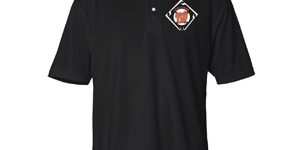 Embroidered Mesh Sport Shirt Polo