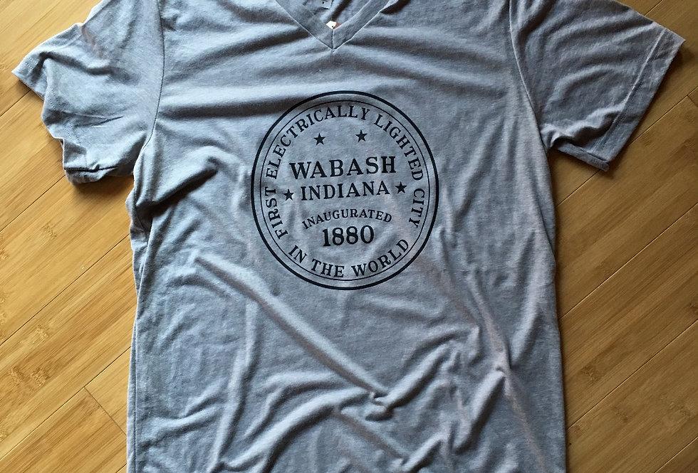 """""""Wabash Seal"""" B+C V-Neck Triblend Tee"""