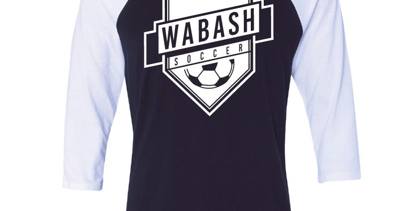 Wabash Soccer 3/4 Sleeve Tee