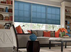 blue color lux roller shade