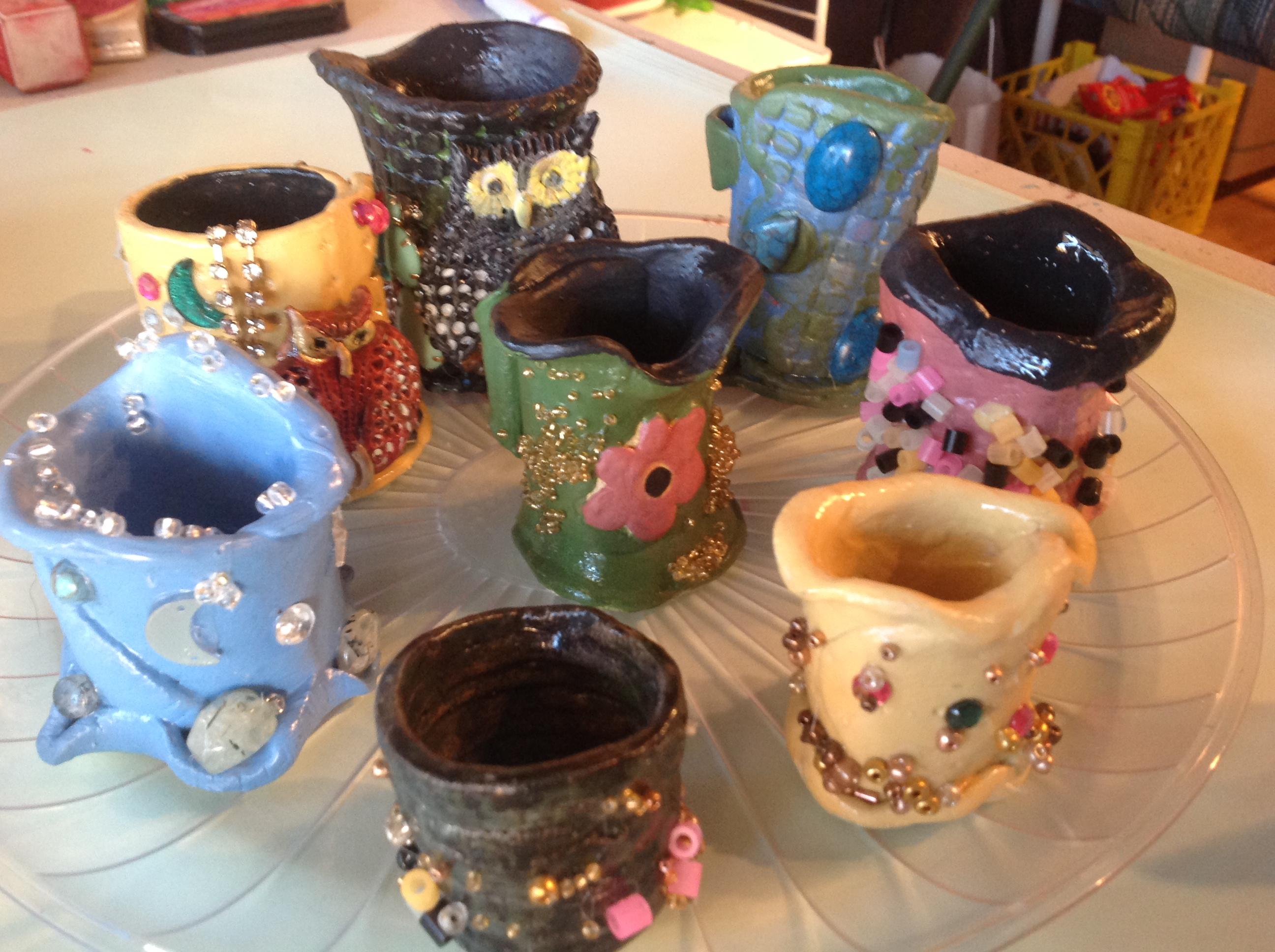 Sweet little clay vases