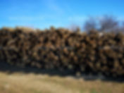 Stacks of acacia wood