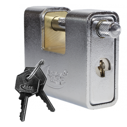 Asec Sliding Shackle 90mm Padlock