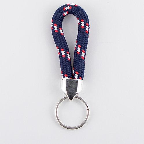 מחזיק מפתחות חבל טיפוס כחול דוגמה