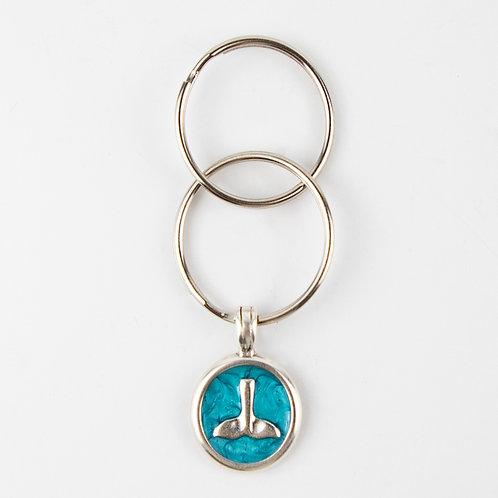 מחזיק מפתחות טורקיז זנב דולפין