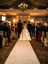Wedding- Rear shot; down aisle to altar
