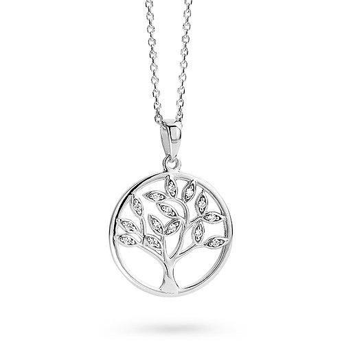624341A Rosa di Luca zilveren hanger zirconia + collier