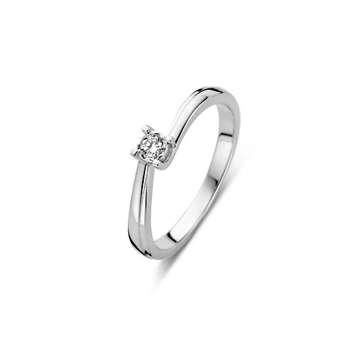 619103 Rosa di Luca zilveren briljant ring 0,06ct