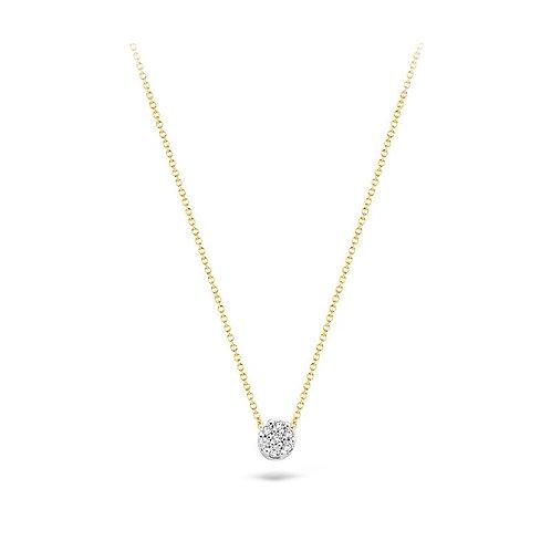 3077BZI Blush collier bicolor zirconia