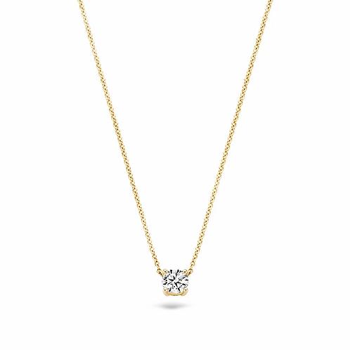 3049YZI Blush collier geelgoud zirconia
