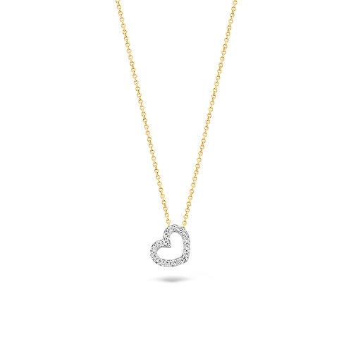 3072BZI Blush collier bicolor zirconia hartje