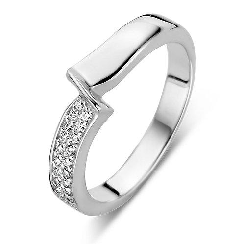 629535 Rosa di Luca zilveren ring zirconia