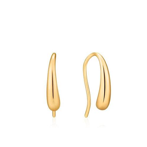 Ania Haie E024-02G Luxe Hook Earrings S
