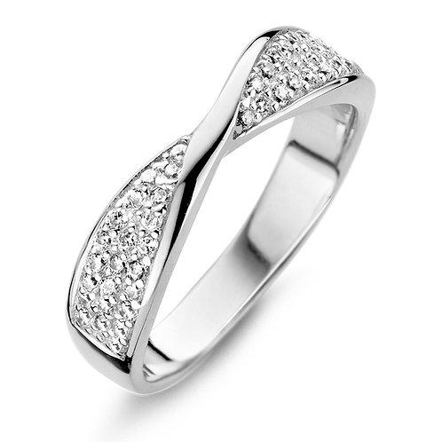 629475 Rosa di Luca zilveren ring zirconia