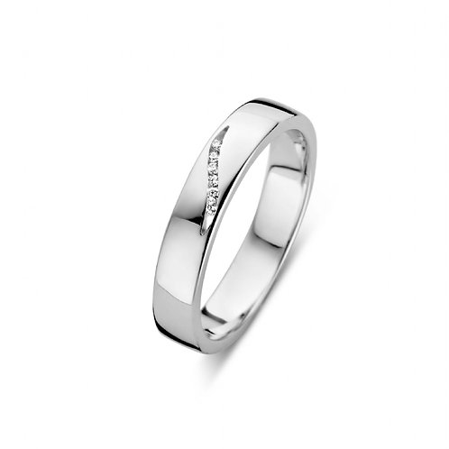 619106 Rosa di Luca zilveren briljant ring 0,03ct