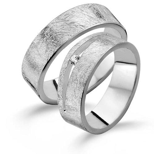 6W164-SET Alliance zilveren vriendschapsring 6mm