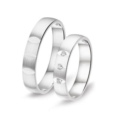 6B8636-SET Alliance zilveren vriendschapring 4mm