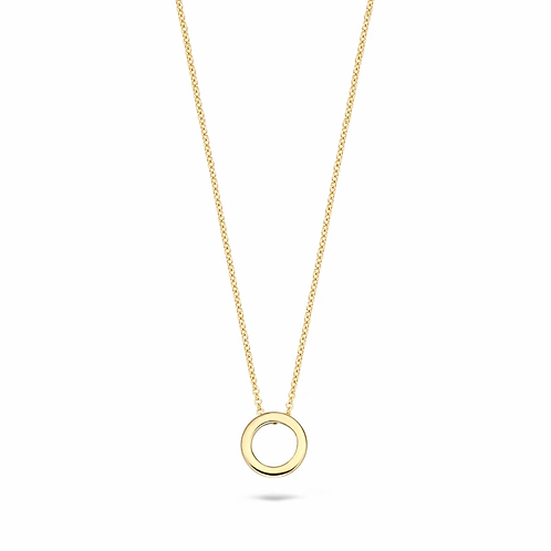 3083YGO Blush collier geelgoud open cirkel