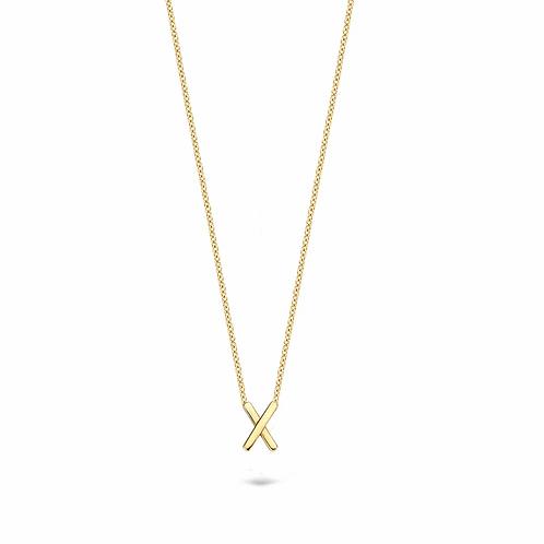 3094YGO Blush collier geelgoud X