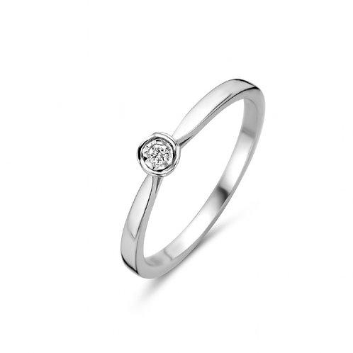 619110 Rosa di Luca zilveren ring briljant 0,03ct